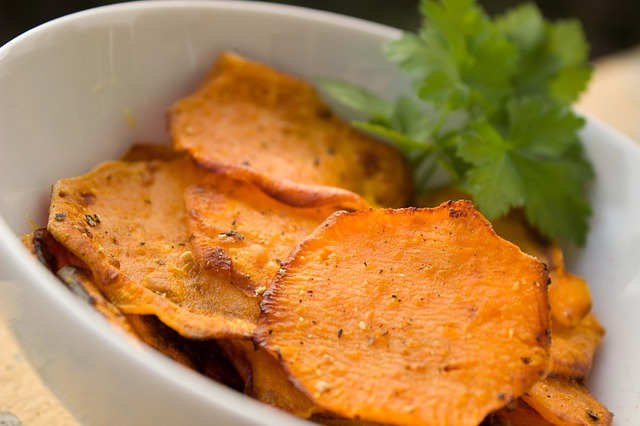 Oven Baked Kumara (aka Sweet Potato) Chips